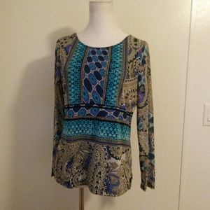 Size 0 Chicos top lon sleeve